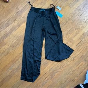 A. Melanie Satin High Waist Wide Leg Trouser, New
